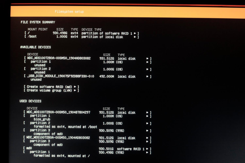 Установка LINUX на Software RAID